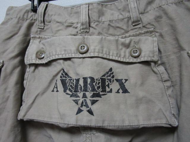 AVIREX ヒップポケット付きハーフパンツ・L(アヴィレックスショートパンツ短パンミリタリーパンツカーゴパンツ)_画像2