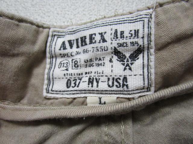 AVIREX ヒップポケット付きハーフパンツ・L(アヴィレックスショートパンツ短パンミリタリーパンツカーゴパンツ)_画像5