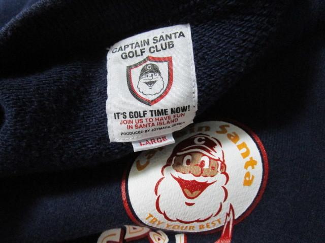 キャプテンサンタ スウェット地ベスト・L(Captain Santa Golf Clubトレーナー地ベストジョイマークデザイン)_画像5