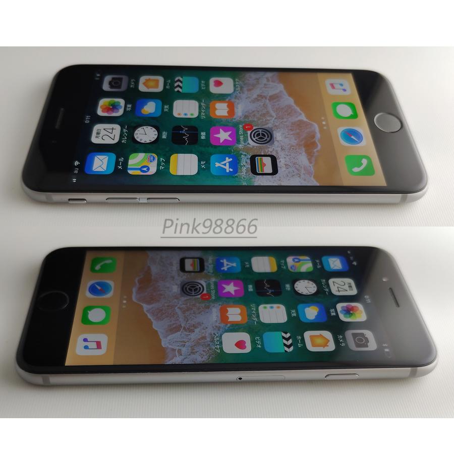 ☆人気☆au iPhone6S 16GB スペースグレイ/本体16G/格安MVNO SIM使用可能/格安SIM月額700円から/IOS11.4/電池最大容量87%_画像3