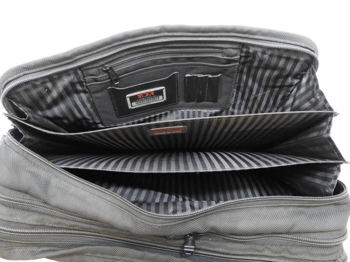 [146M732] TUMI トゥミ ブリーフケース 204D3 ビジネスバッグ ナイロン ブラック BLACK 大容量 メンズ 鞄 カバン 中古品_画像9