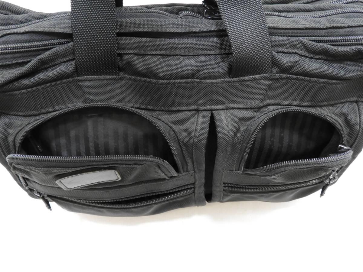 [146M732] TUMI トゥミ ブリーフケース 204D3 ビジネスバッグ ナイロン ブラック BLACK 大容量 メンズ 鞄 カバン 中古品_画像6