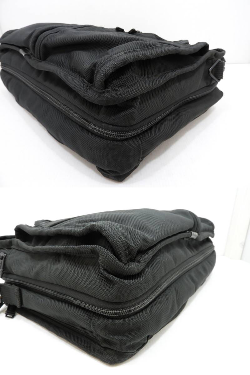 [146M732] TUMI トゥミ ブリーフケース 204D3 ビジネスバッグ ナイロン ブラック BLACK 大容量 メンズ 鞄 カバン 中古品_画像4