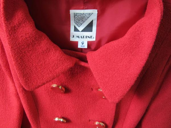 J.MARINE 9号 ジャケット 綺麗な赤色 お出かけ用 中古_画像3