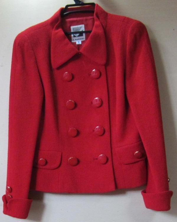 J.MARINE 9号 ジャケット 綺麗な赤色 お出かけ用 中古_画像1