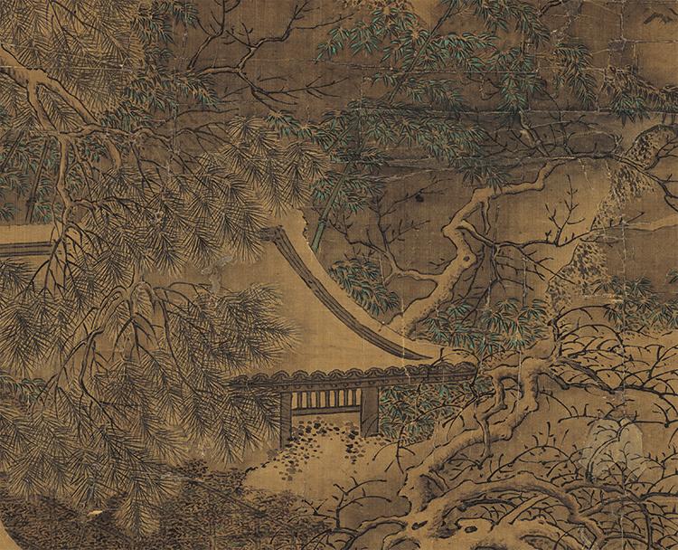 仇英『雪夜行舟図』 山水画 美術品 書 掛軸 掛け軸 中国美術 巻物 中国書画 サイズ:60cm X 112cm_画像4