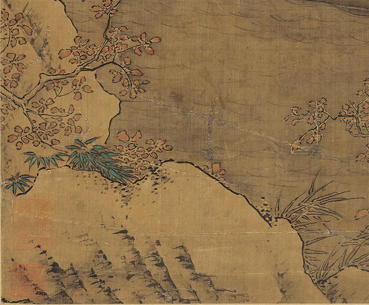 仇英『雪夜行舟図』 山水画 美術品 書 掛軸 掛け軸 中国美術 巻物 中国書画 サイズ:60cm X 112cm_画像10
