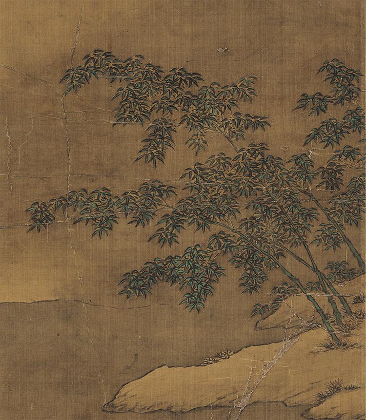 仇英『雪夜行舟図』 山水画 美術品 書 掛軸 掛け軸 中国美術 巻物 中国書画 サイズ:60cm X 112cm_画像3