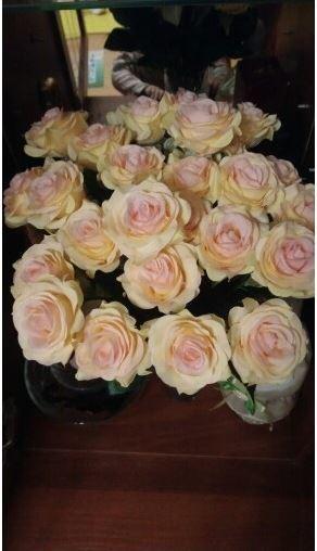 【送料無料】大量25本 バラ 高級造花 アートフラワー シルクフラワー 花束 薔薇 ローズ アレンジメント ブーケ プレゼント 結婚式 ピンク_画像9