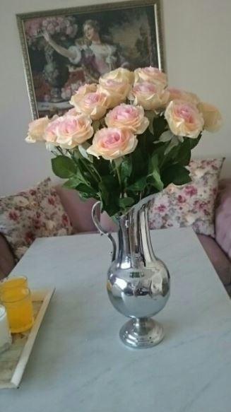 【送料無料】大量25本 バラ 高級造花 アートフラワー シルクフラワー 花束 薔薇 ローズ アレンジメント ブーケ プレゼント 結婚式 ピンク_画像7