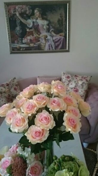 【送料無料】大量25本 バラ 高級造花 アートフラワー シルクフラワー 花束 薔薇 ローズ アレンジメント ブーケ プレゼント 結婚式 ピンク_画像3