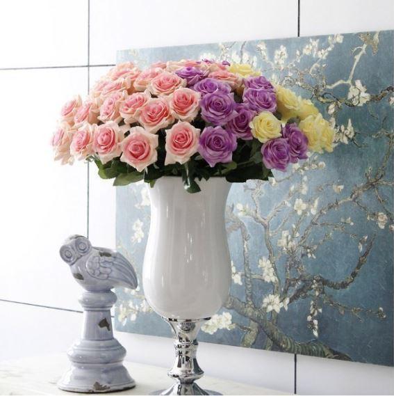【送料無料】大量25本 バラ 高級造花 アートフラワー シルクフラワー 花束 薔薇 ローズ アレンジメント ブーケ プレゼント 結婚式 ピンク_画像8