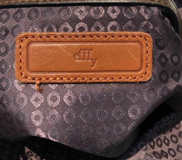 【お得】エフィー 上質レザー デザイン ハンドバッグ efffy 革 グレーブラウン系 大容量_画像3