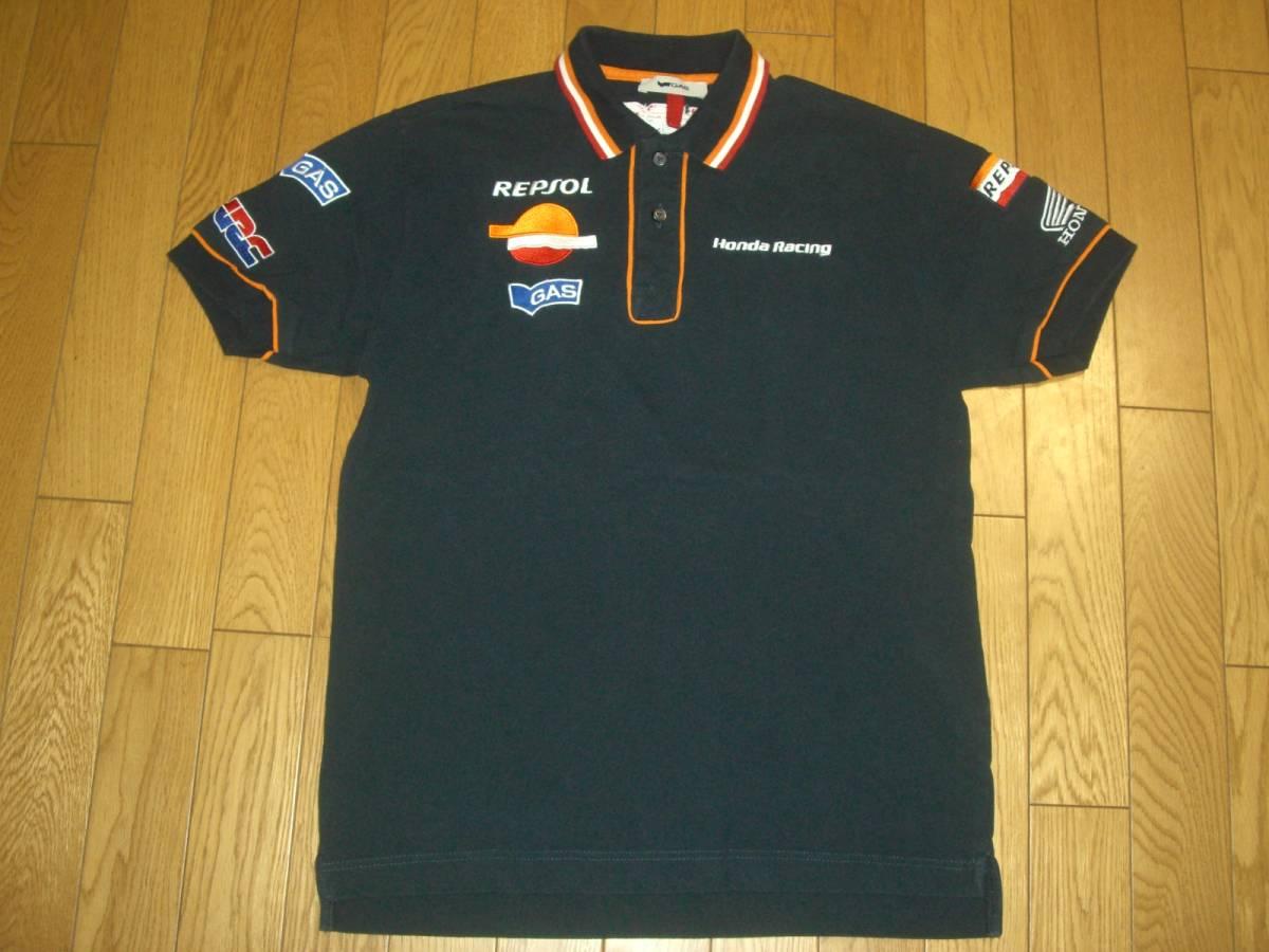 GAS Honda Racing ホンダ 半袖 綿 ポロシャツ S