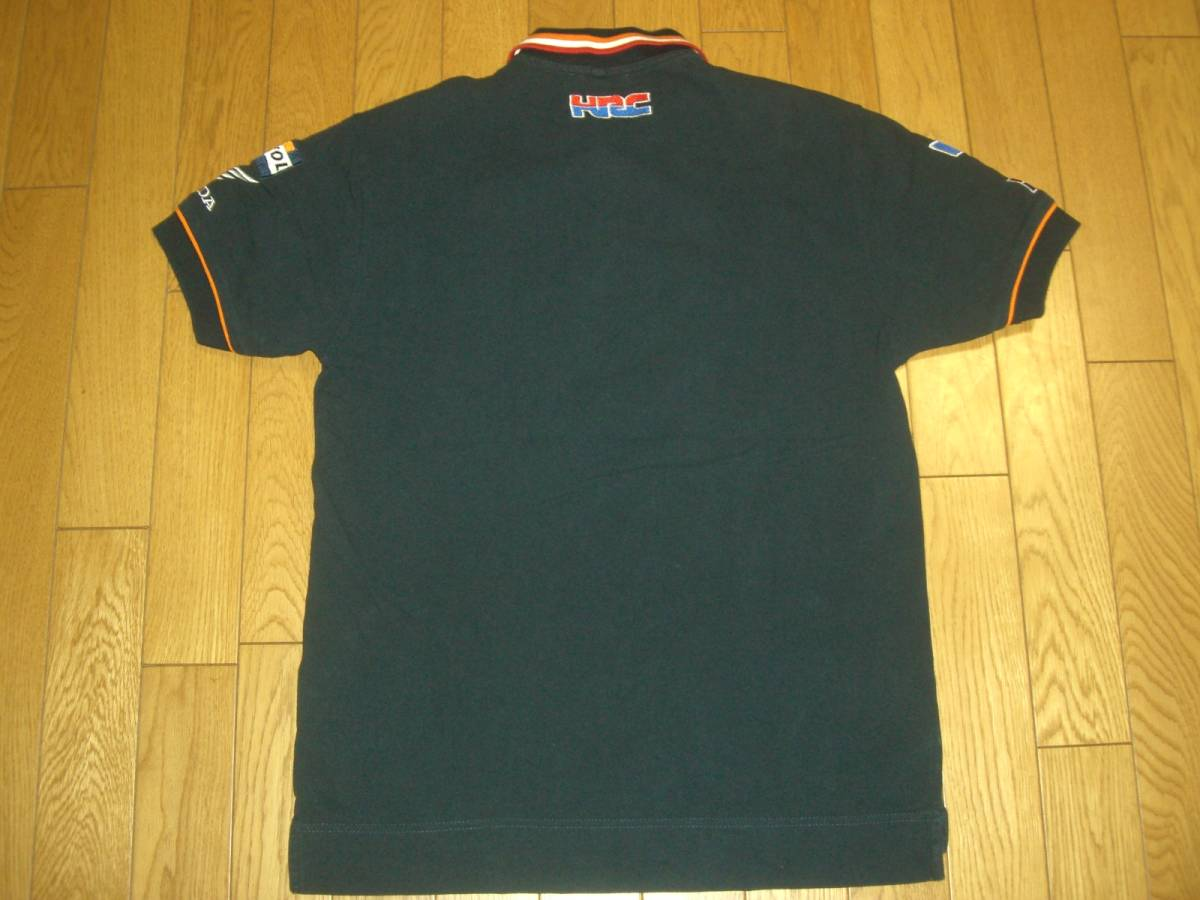 GAS Honda Racing ホンダ 半袖 綿 ポロシャツ S_画像2
