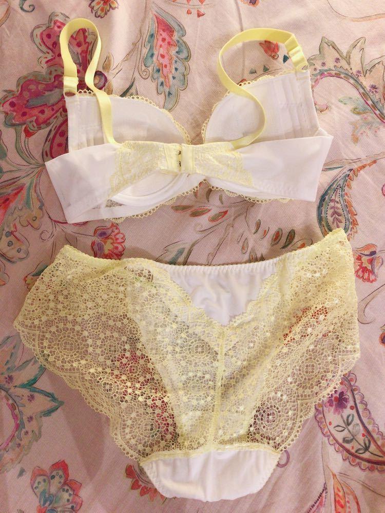 【ECO商品】お花刺繍ブラ&パンティ+°【タンス整理品】_画像2