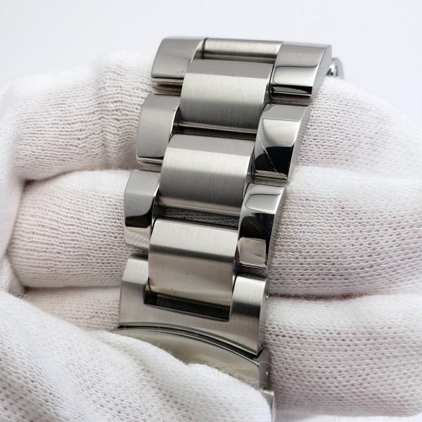 ORISオリス アクイスデイト 7653-04 メンズ 自動巻き腕時計 シースルーバック 裏スケ ブラック AQUIS オートマ ダイバーズ _画像6