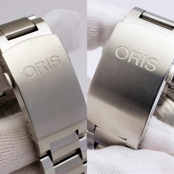 ORISオリス アクイスデイト 7653-04 メンズ 自動巻き腕時計 シースルーバック 裏スケ ブラック AQUIS オートマ ダイバーズ _画像9
