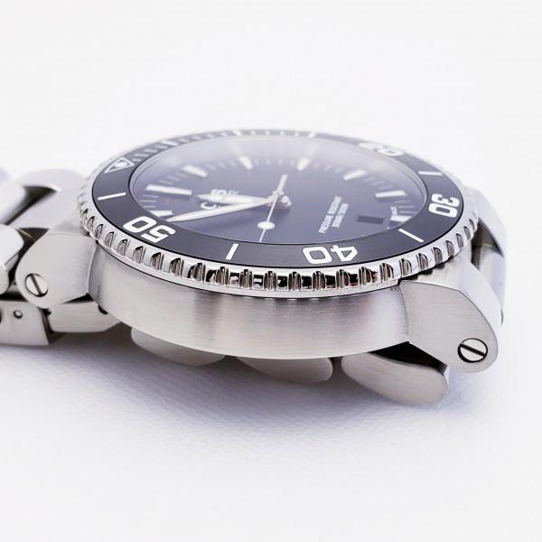 ORISオリス アクイスデイト 7653-04 メンズ 自動巻き腕時計 シースルーバック 裏スケ ブラック AQUIS オートマ ダイバーズ _画像5