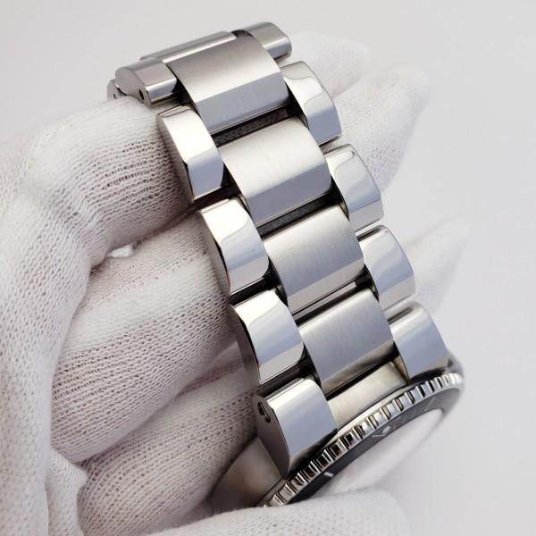 ORISオリス アクイスデイト 7653-04 メンズ 自動巻き腕時計 シースルーバック 裏スケ ブラック AQUIS オートマ ダイバーズ _画像7