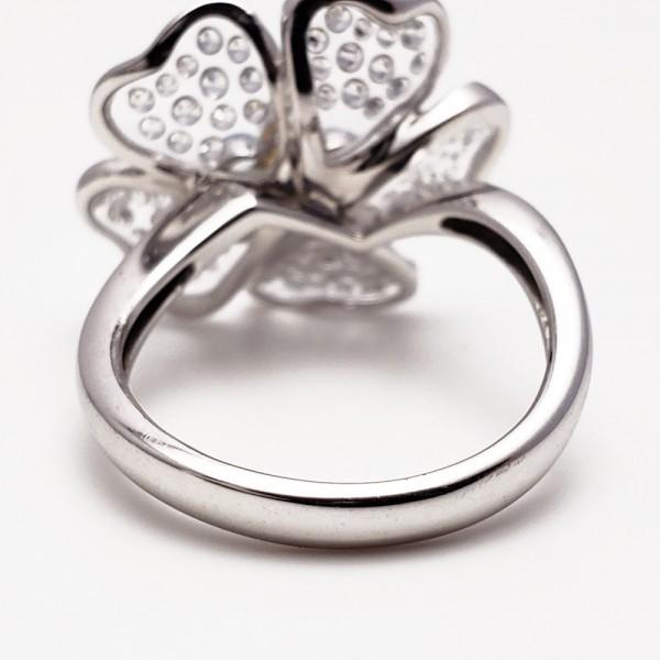 Gemtique ジェムティーク 750WG(K18WG) 花型デザインリング 13号 指輪_画像8