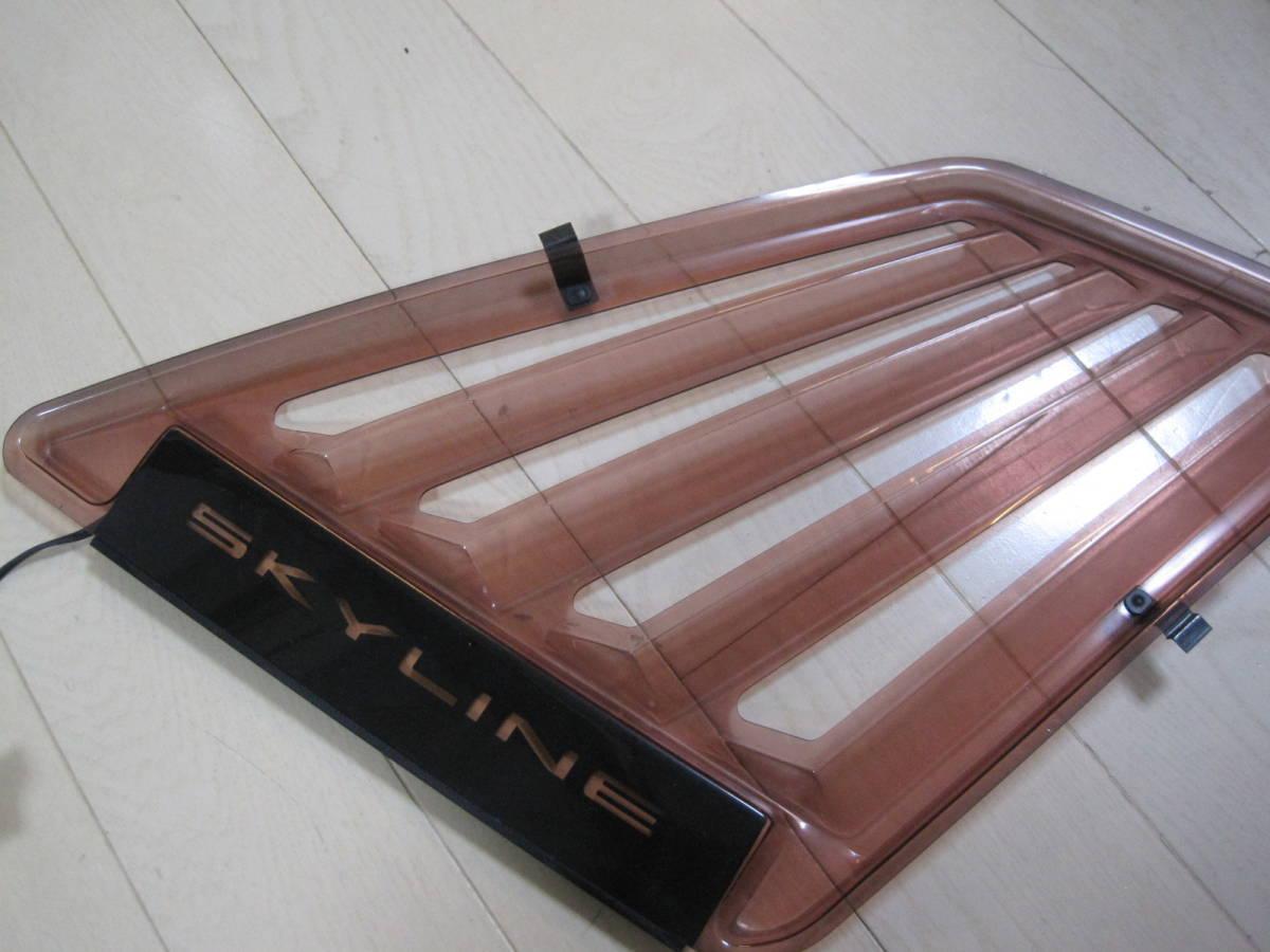 BNR32 スカイライン GT-R 純正オプション サイドウィンドウ ルーバー 左右 R32 旧車 当時物 希少_画像9