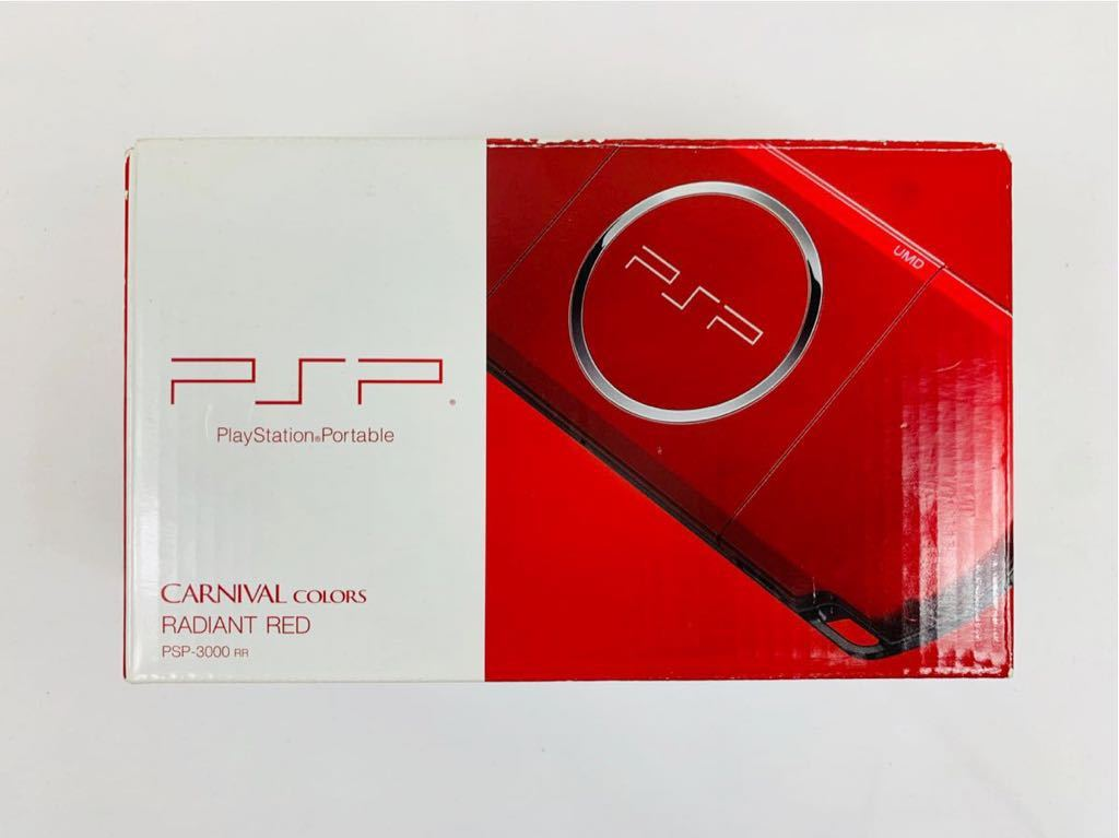 G674 【良品】 PSP 本体 SONY PSP-3000 RR ラディアント・レッド 箱・取説有 完品 中古品 《1円スタート》