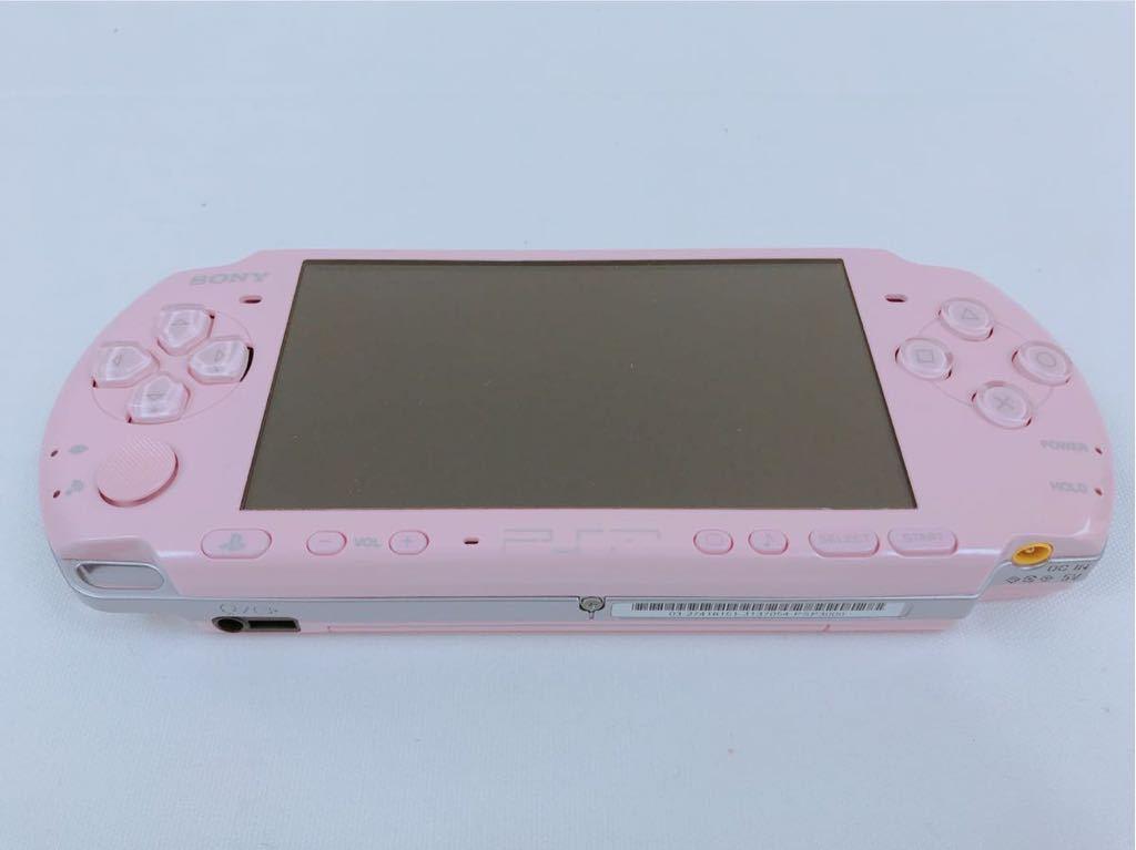 G693 【美品】 PSP 本体 PSP-3000 BP (ブロッサムピンク) 完品 中古 _画像4