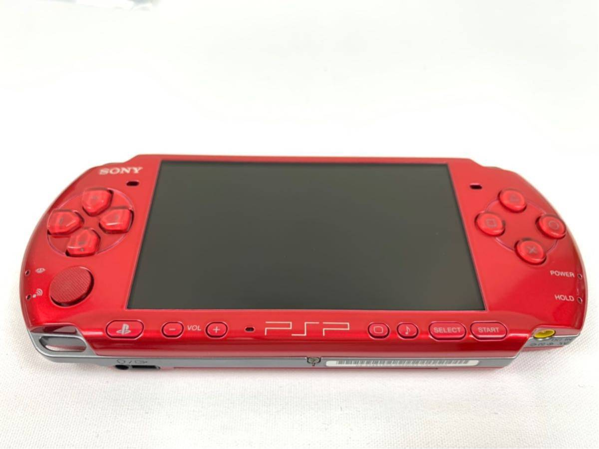 G674 【良品】 PSP 本体 SONY PSP-3000 RR ラディアント・レッド 箱・取説有 完品 中古品 《1円スタート》_画像5