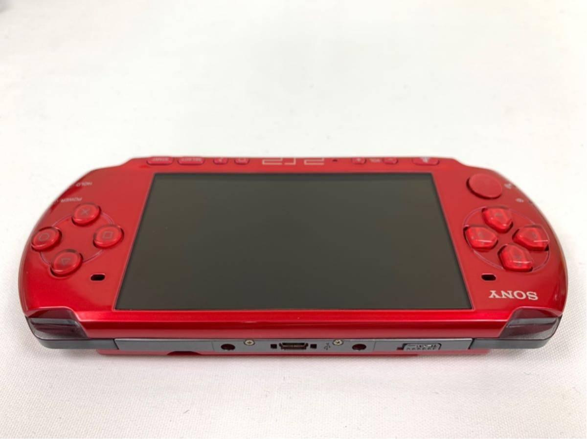 G674 【良品】 PSP 本体 SONY PSP-3000 RR ラディアント・レッド 箱・取説有 完品 中古品 《1円スタート》_画像6