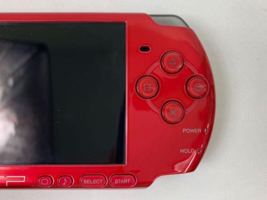 G674 【良品】 PSP 本体 SONY PSP-3000 RR ラディアント・レッド 箱・取説有 完品 中古品 《1円スタート》_画像7