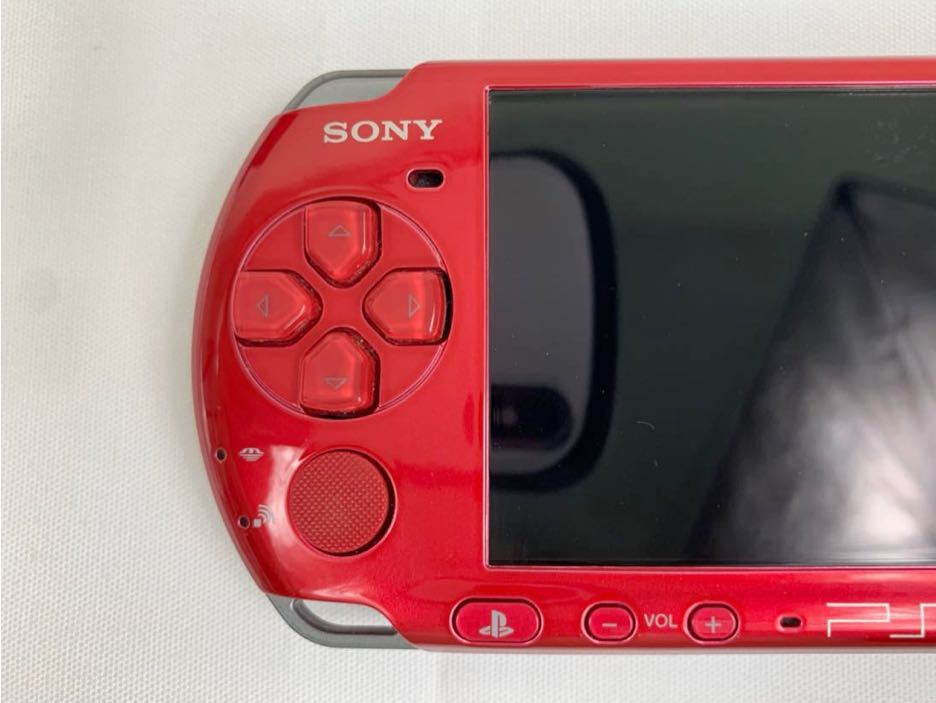 G674 【良品】 PSP 本体 SONY PSP-3000 RR ラディアント・レッド 箱・取説有 完品 中古品 《1円スタート》_画像8