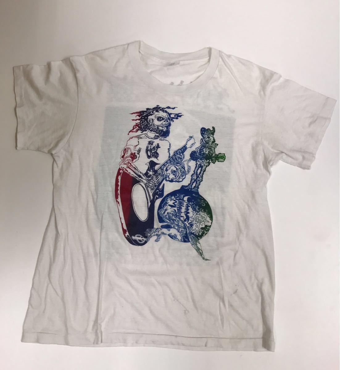 70s 80s ビンテージ Grateful Dead Tシャツ Jerry Garcia グレイトフルデッド ジェリー ガルシア ヒッピー カルチャー スカル_画像4