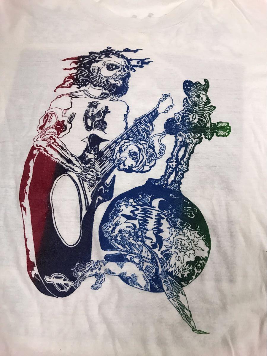 70s 80s ビンテージ Grateful Dead Tシャツ Jerry Garcia グレイトフルデッド ジェリー ガルシア ヒッピー カルチャー スカル_画像3