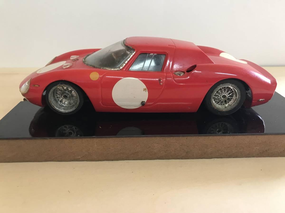 1/24 古い昔のスロットカー シャーシ&ボディー(フェラーリ 250LM)付き_画像4