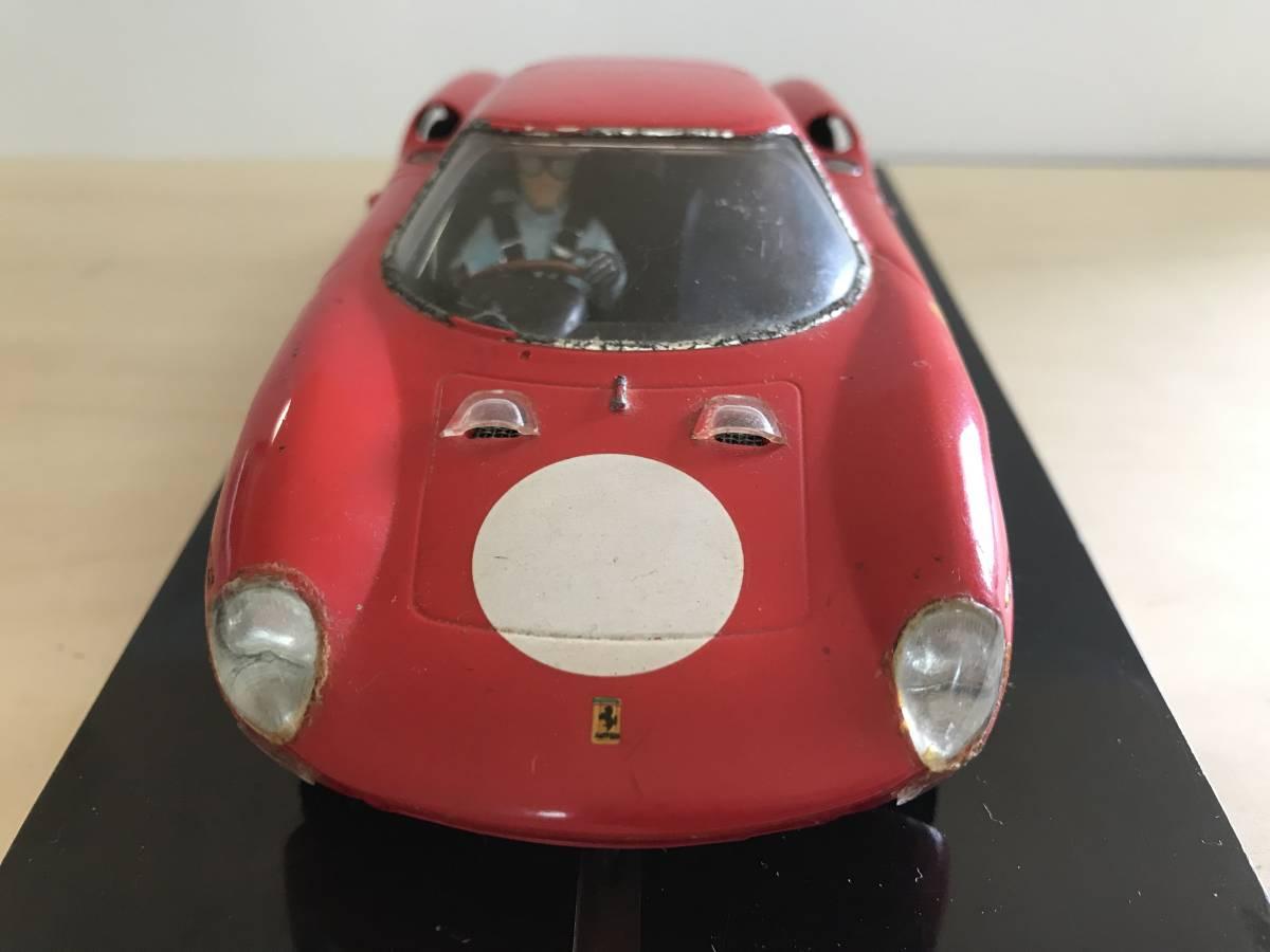 1/24 古い昔のスロットカー シャーシ&ボディー(フェラーリ 250LM)付き_画像7