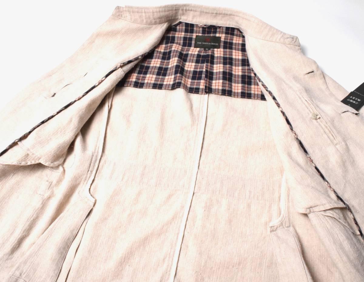 新品7.1万 スコッチハウス 春夏 麻綿絹 フィールドジャケット L リネンシルク THE SCOTCH HOUSE _画像5