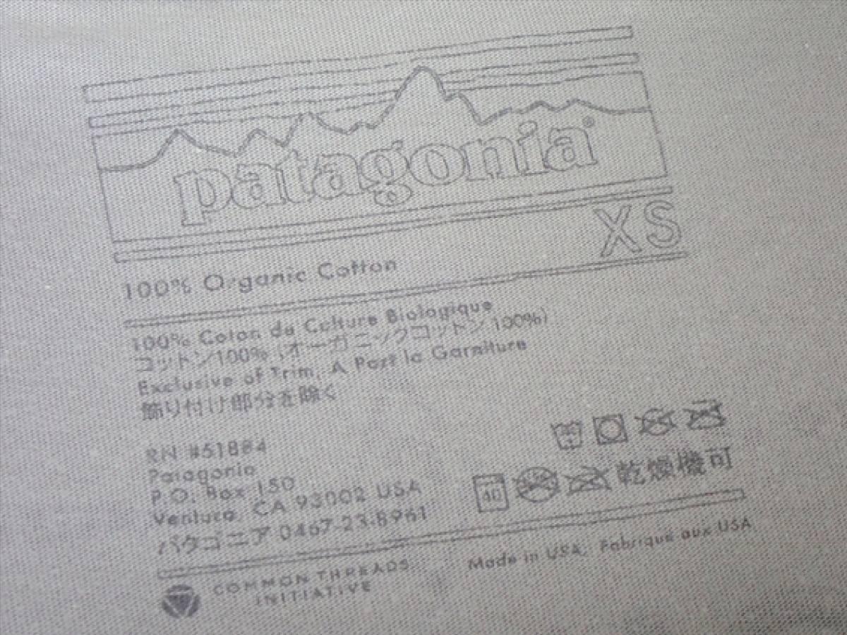 【パタゴニア patagonia】CHOUINARDメンズTシャツsize(XS)オーガニックコットン100%☆ビンテージ品・USA☆_画像6