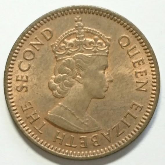 【キプロス】3ミル銅貨 1955年 約20.5mm_画像2