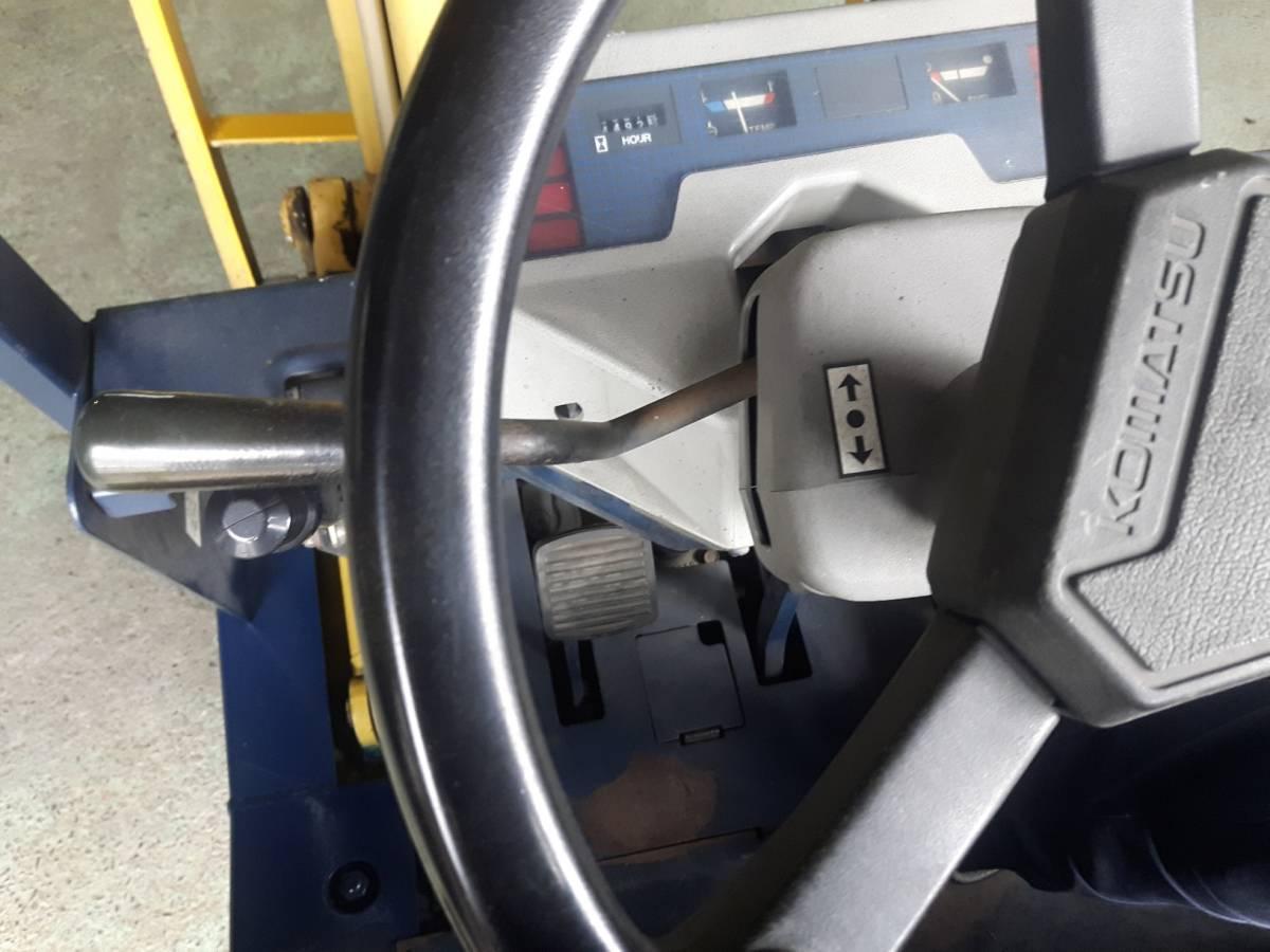 中古 小松1.4トン ガソリンフォークリフト FG14-15 オートマ車 即決¥350,000円_画像7
