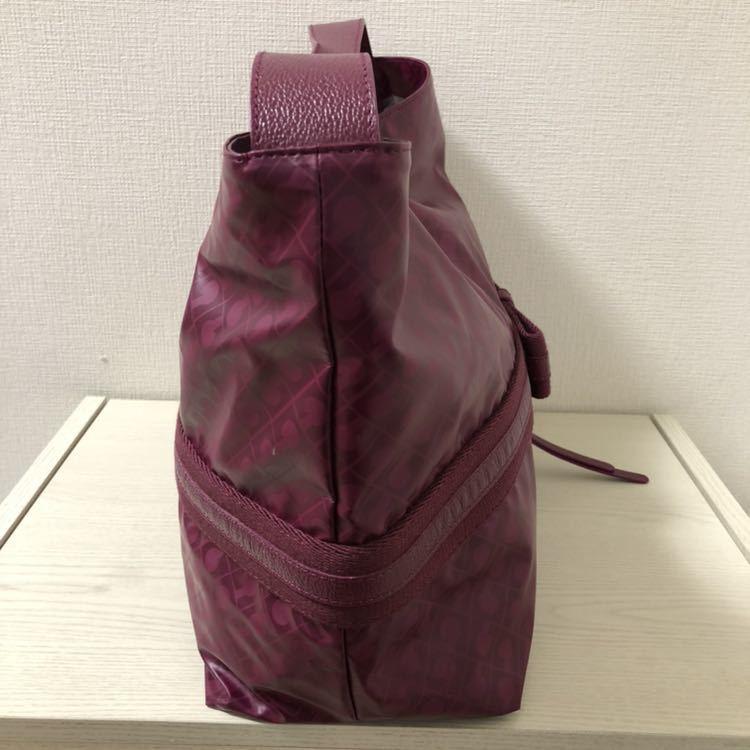 【美品】ゲラルディーニ GHERARDINI ソフティ SOFTY リボン セミショルダーバッグ パープル 紫 ワンショルダーバッグ_画像6