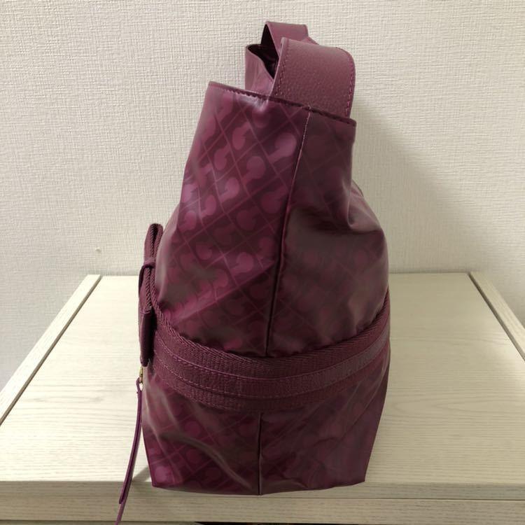 【美品】ゲラルディーニ GHERARDINI ソフティ SOFTY リボン セミショルダーバッグ パープル 紫 ワンショルダーバッグ_画像5