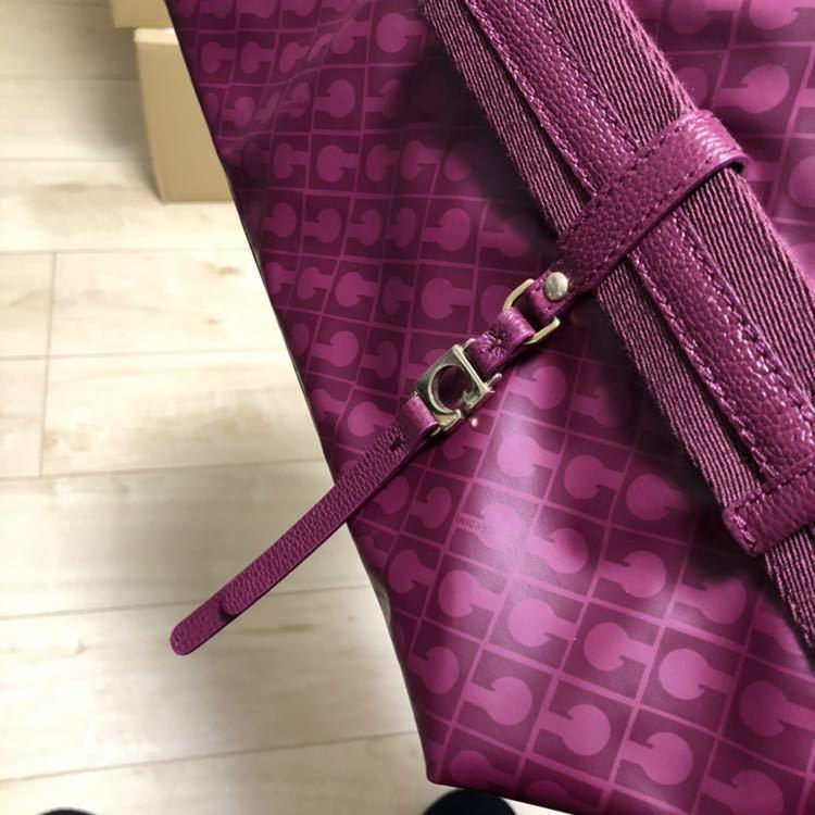 【美品】ゲラルディーニ GHERARDINI ソフティ SOFTY リボン セミショルダーバッグ パープル 紫 ワンショルダーバッグ_画像7