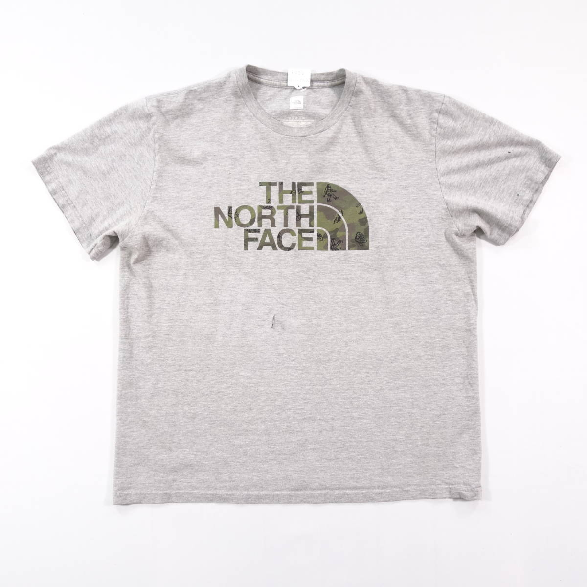 ノースフェイス Tシャツ 半袖 メンズ L 丸首 ハーフドーム プリントロゴ アウトドア トップス USA直輸入 古着 MNO-1-1-0209_画像2