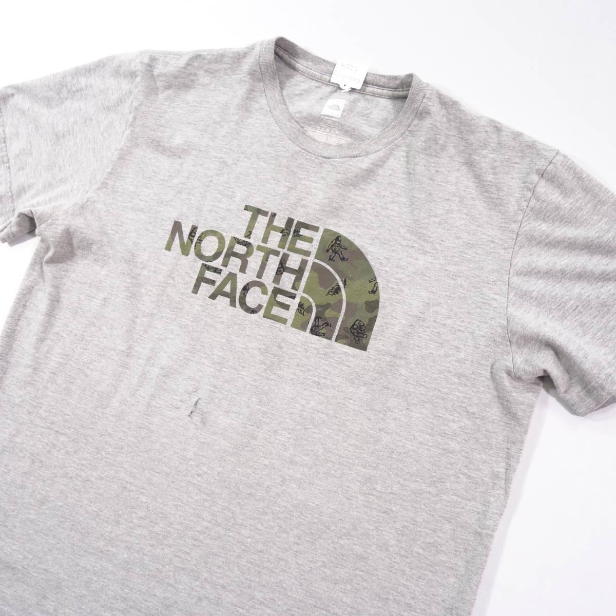 ノースフェイス Tシャツ 半袖 メンズ L 丸首 ハーフドーム プリントロゴ アウトドア トップス USA直輸入 古着 MNO-1-1-0209_画像3