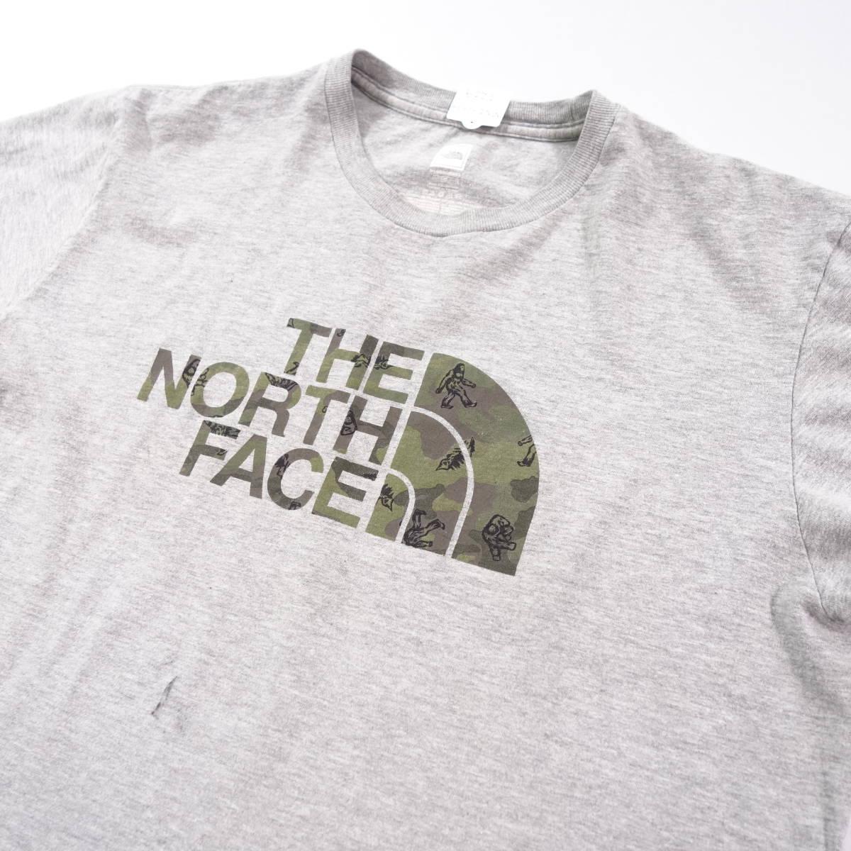 ノースフェイス Tシャツ 半袖 メンズ L 丸首 ハーフドーム プリントロゴ アウトドア トップス USA直輸入 古着 MNO-1-1-0209_画像4