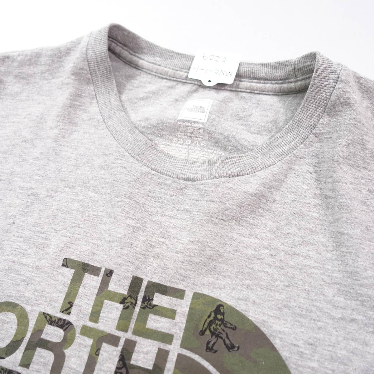 ノースフェイス Tシャツ 半袖 メンズ L 丸首 ハーフドーム プリントロゴ アウトドア トップス USA直輸入 古着 MNO-1-1-0209_画像5