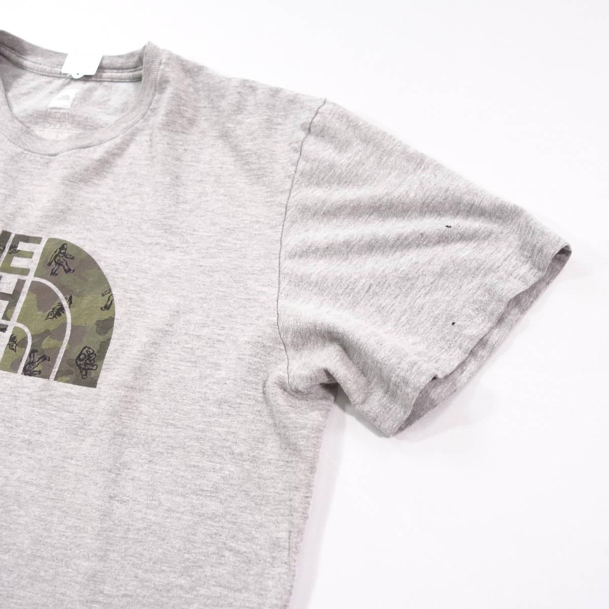 ノースフェイス Tシャツ 半袖 メンズ L 丸首 ハーフドーム プリントロゴ アウトドア トップス USA直輸入 古着 MNO-1-1-0209_画像6