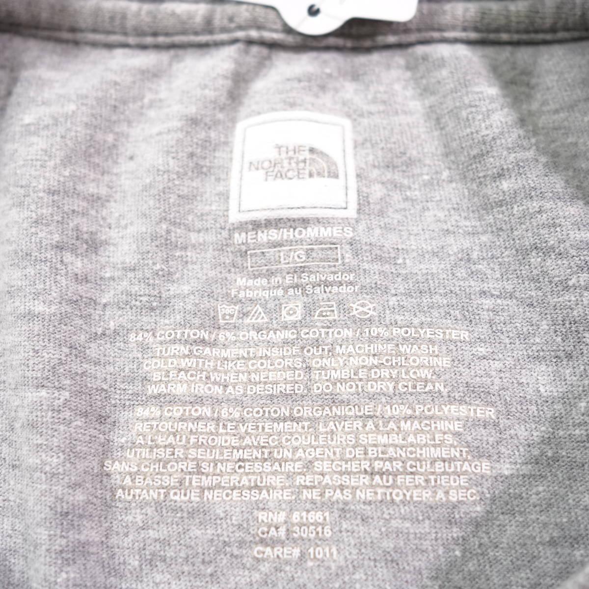 ノースフェイス Tシャツ 半袖 メンズ L 丸首 ハーフドーム プリントロゴ アウトドア トップス USA直輸入 古着 MNO-1-1-0209_画像7