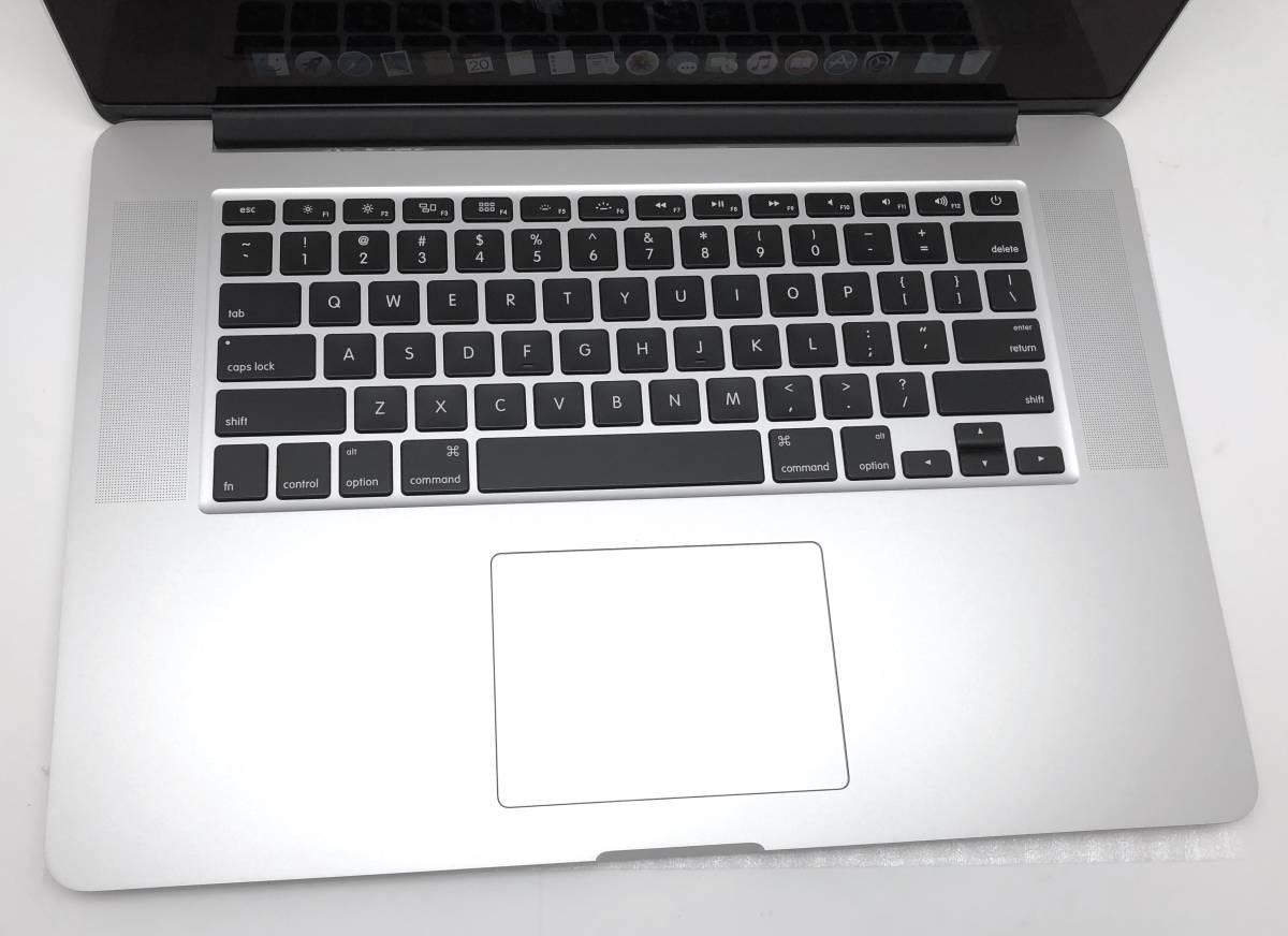 新品同様極上品 Apple Macbook Pro Retina 15 Mid2015 CTO i7 2.8GHz/16GB RAM/1TB AppleSSD/R9 M370X/ US_画像2